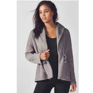 Fabletics Sage Coat Heather Grey